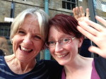Pooky and me at Covent Garden today - hi to everyone. Wishing Cate,  co-author of Ed says U said, could be there too.