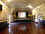 Family and friends prepared the country hall at Briagolong, on the eve of Helen's funeral.